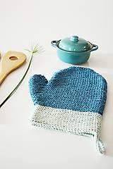 Úžitkový textil - Kuchynská rukavica - modrá - 10476433_