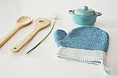 Úžitkový textil - Kuchynská rukavica - modrá - 10476435_