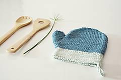 Úžitkový textil - Kuchynská rukavica - modrá - 10476436_