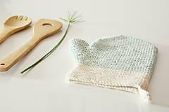 Úžitkový textil - Kuchynská rukavica - mint - 10476447_