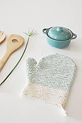 Úžitkový textil - Kuchynská rukavica - mint - 10476448_