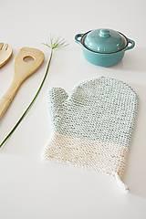 Úžitkový textil - Kuchynská rukavica - mint - 10476450_