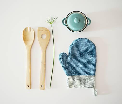 Kuchynská rukavica - modrá