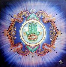 Obrazy - Mandala intuície a ochrany nebies - 10475936_