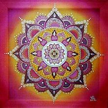 Obrazy - Mandala...Vášnivý bozk - 10475970_