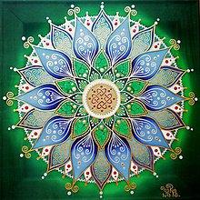 Obrazy - Mandala zdravej a súdržnej rodiny - 10476005_