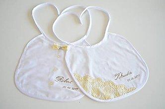 Darčeky pre svadobčanov - Svadobný podbradník ONA a ON - 10476066_