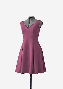 Šaty - Midi šaty s vreckami - 10476963_