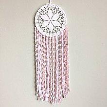 Dekorácie - Lapač snov Ružový sen - 10477934_