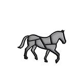 Kôň silver/black
