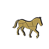 Kôň negativ black/gold