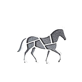 Odznaky/Brošne - Kôň vertigo grey/white - 10478377_