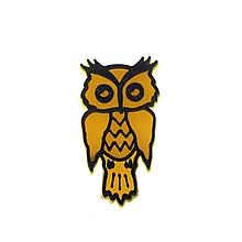 Odznaky/Brošne - Sova yellow/black - 10478209_