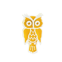 Odznaky/Brošne - Sova yellow/white - 10478227_