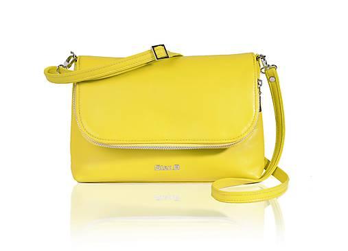 c1f04801c7 Crossbody kožená žltá kabelka art. 432ŽL   StenB - SAShE.sk ...