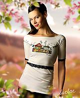 Tričká - Veselé tričko s čiernou čipkou - Laundry - 10476876_