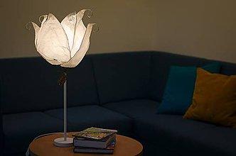 Svietidlá a sviečky - Ľadová kráľovná - stolná lampa - 10477888_