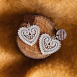 Náušnice - Náušničky - čipkované srdce (Strieborné (Ag) komponenty) - 10475326_