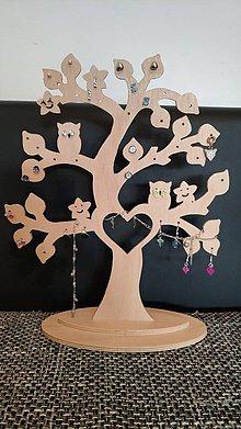 Drobnosti - Drevený stromček na šperky - 10475852_
