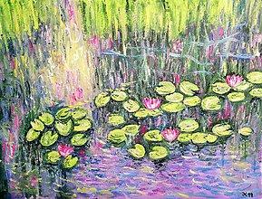 Obrazy - Lekná - Warer Lilies - 10476259_