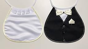 Iné doplnky - Svadobné podbradníky Sme svoji bez výšivky farba podľa výberu (smotanové) - 10476664_