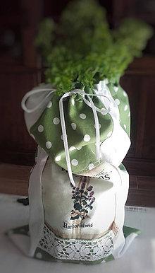 Úžitkový textil - Bavlněný sáček na bylinky zelený II - 10475499_