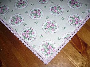 Úžitkový textil - Ružičky s čipkou 42x42 - 10477401_