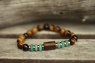 Náramky - Náramok z minerálov bronzit, tigrie oko, jadeit - 10477666_