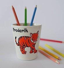 Detské doplnky - Detský pohárik tiger - 10478637_