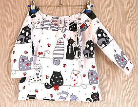 Detské oblečenie - dievčenská blúzka - 10476130_