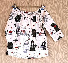 Detské oblečenie - dievčenská blúzka - 10476147_