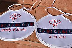 Iné doplnky - Folk svadobné podbradníky - 10481452_