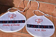 Iné doplnky - Folk svadobné podbradníky - 10481454_