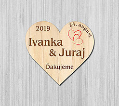 Darčeky pre svadobčanov - Svadobná magnetka - 10478989_