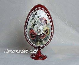 Dekorácie - Velkonočné vajíčko so stojanom - sirôtky - 10478927_