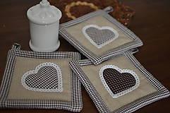 Úžitkový textil - Hnedé chňapky - 10480919_