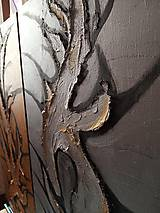 Obrazy - Sculptural silver - 10481613_