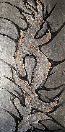 Obrazy - Sculptural silver - 10481608_