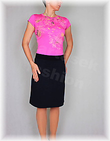 Sukne - Sukne jednobarevná vz.475(více barev) (Ružová) - 10478923_
