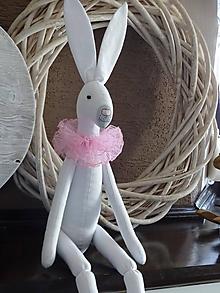 Bábiky - Vintage zajac biely - 10479480_