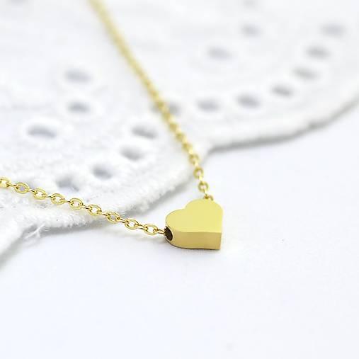 88e229ffe2934 Mini srdiečko z žltého 14 karátového zlata (Biele zlato 14k (585/1000)