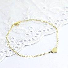 Náramky - Náramok s mini srdiečkom zo žltého zlata 14k - 10480911_