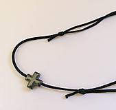 Náramky - Náramok krížik vodeodolný - 10480195_