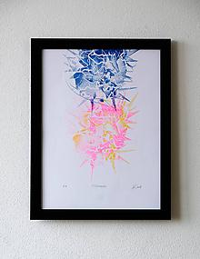 Grafika - // energia pt.2 //  // risografika // A3 obraz - 10481179_
