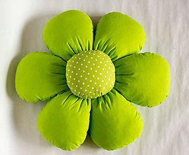 Úžitkový textil - Vankúš kvet (Zelená) - 10481279_