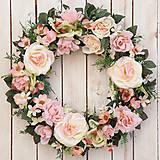 """Dekorácie - Romantický veniec na dvere """"...vôňa ruží ..."""" - 10479457_"""