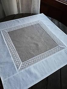 Úžitkový textil - Obrus s krajkou - 10481509_