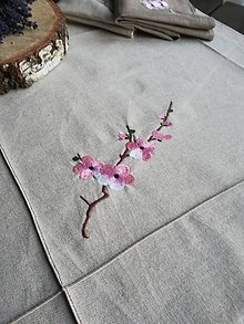 Úžitkový textil - Obrus v prírodnom odtieni režného vzhľadu - 10481615_
