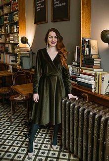 Šaty - Zelené zamatové šaty - 10482104_