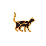 Odznaky/Brošne - Mačka black/orange - 10481925_